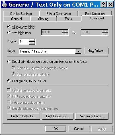 Generic Text Only Driver 32 Bit Download